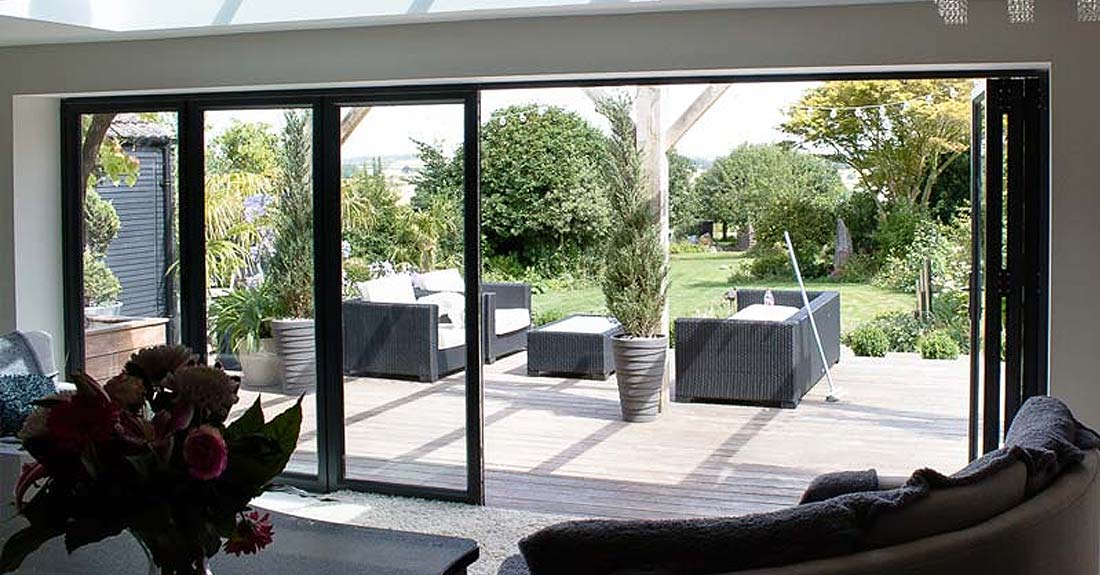 Aluminium bi folding doors crawley