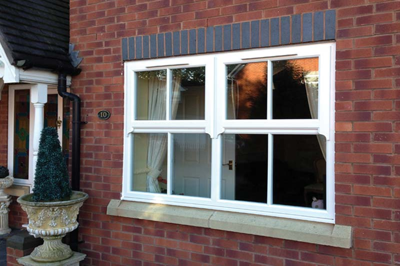 High performance run thru sash horn windows