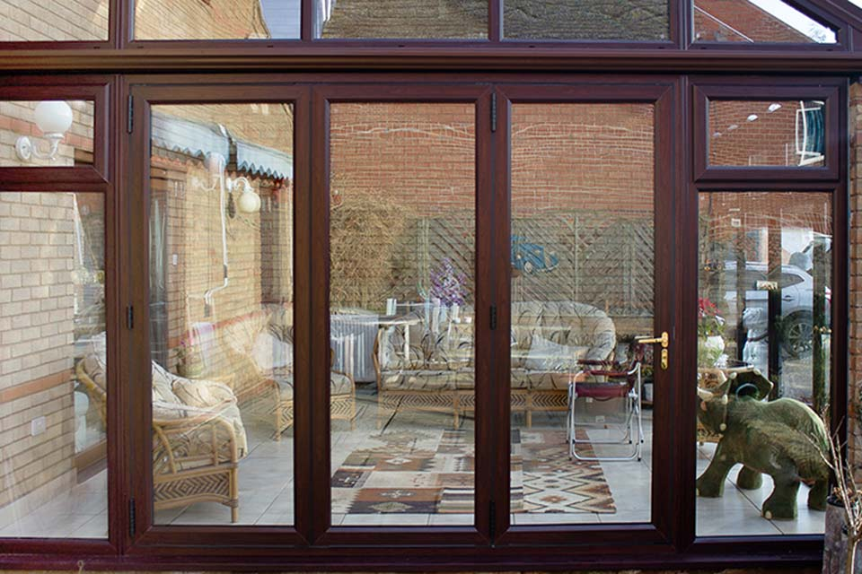 High performance upvc bi folding doors