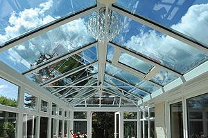 Enhanced conservatory roof glazing