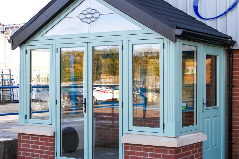 Gable end conservatories diamond glass and windows