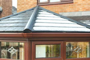 Tiled effect roof